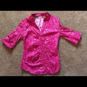 Summery button down shirt.